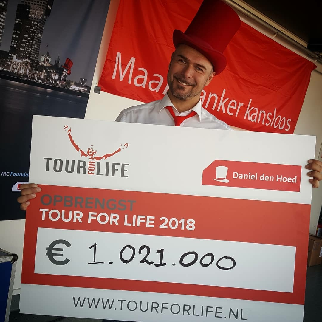 Tour for Life 2018 Cheque