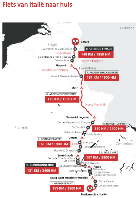 Tour for Life 2018 Route